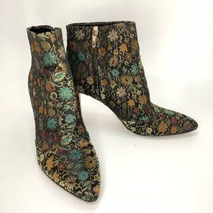 Sam Edelman floral design ankle boots.